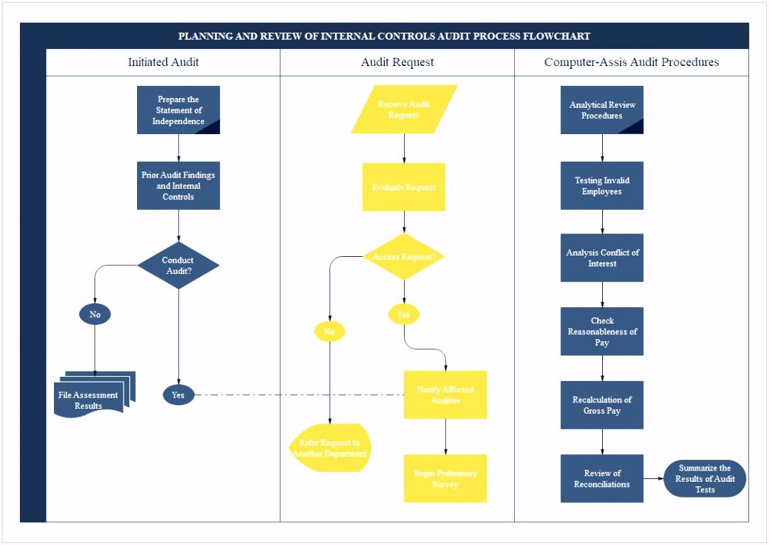 Auditdiagramm Software Geschäftsdiagramm