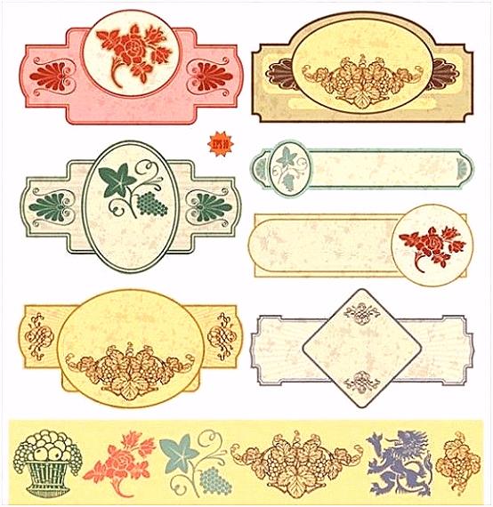 Etiketten Zum Ausdrucken Vintage Web chikufo