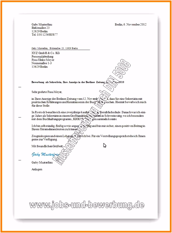 16 vorlage formeller brief