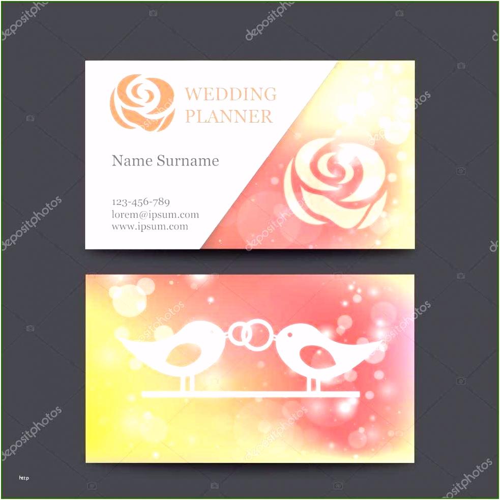 Hochzeitsplaner Vorlage Selten Vektor Jahrgang Hochzeit Visitenkarte