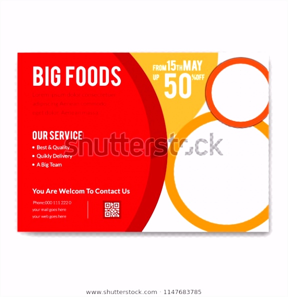 Creative Horizontal Flyer Design Modern Food Stock Vector Royalty
