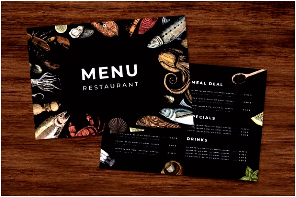 Editable restaurant menu template Vector