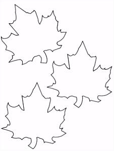 Vorlage zum Ausdrucken und Ausmalen drei Herbstblätter …