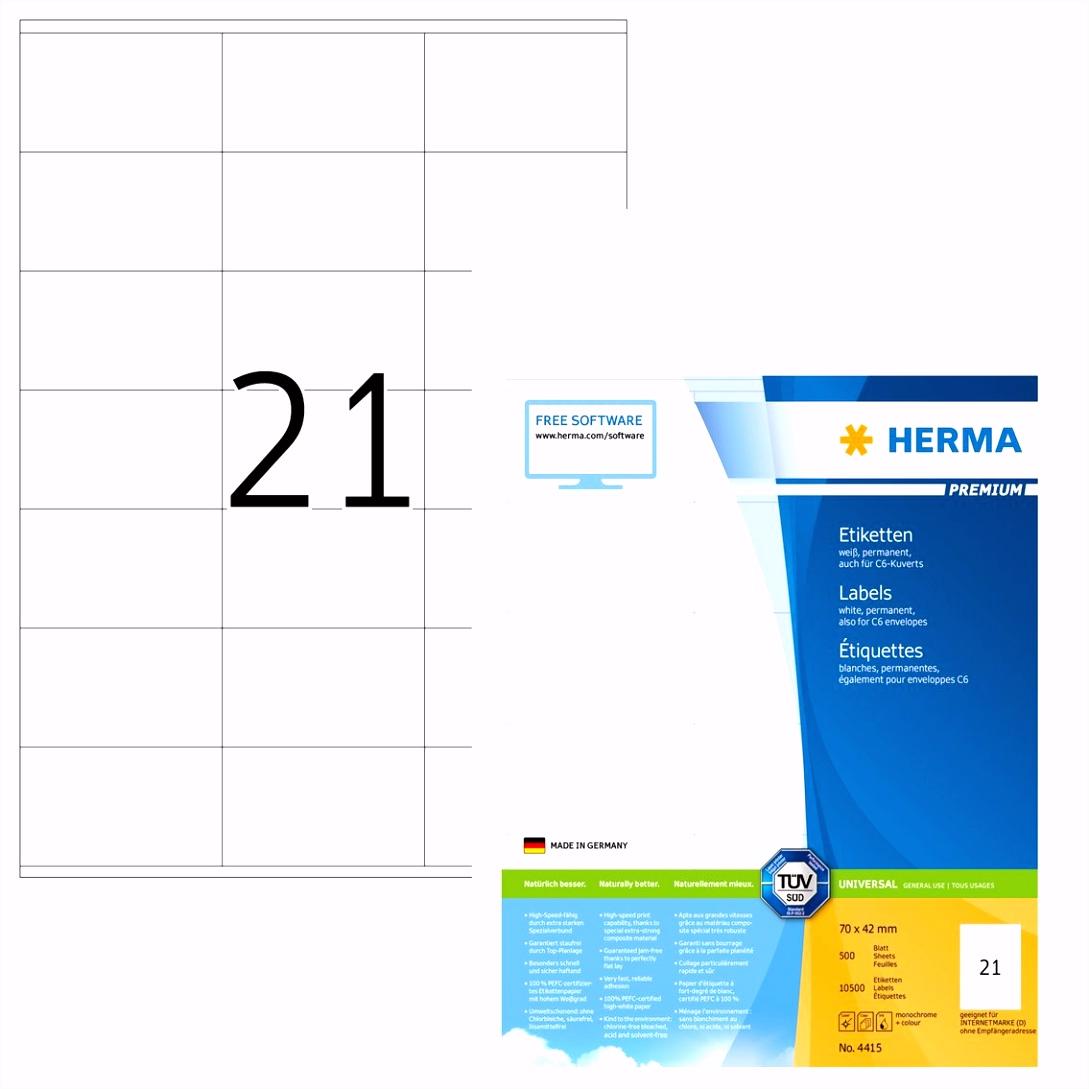Herma 4415 Universal Etiketten 70 x 42 mm weiß 10 500 Aufkleber