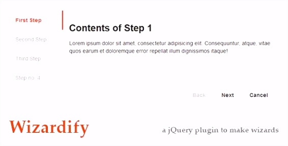 Wizardify jQuery Plugin Code Scripts and Plugins