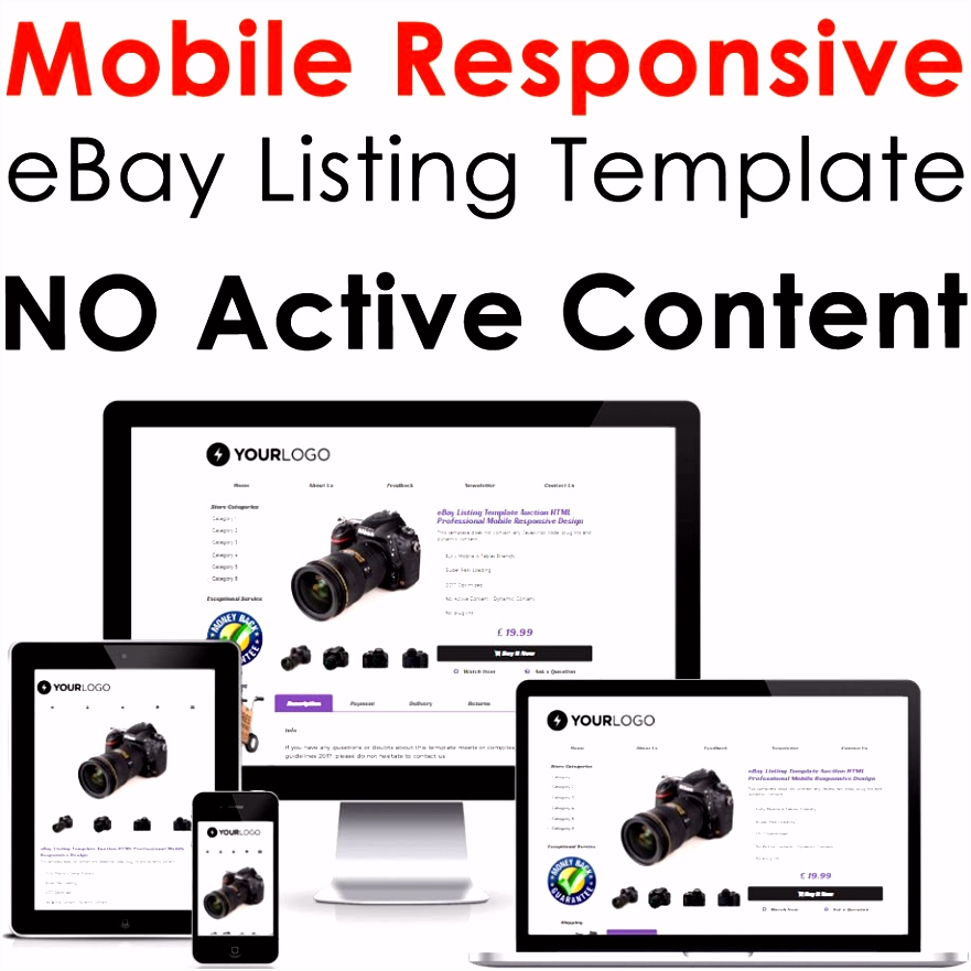 Ebay Listing Template Design Best Template Ebay Listing Auction