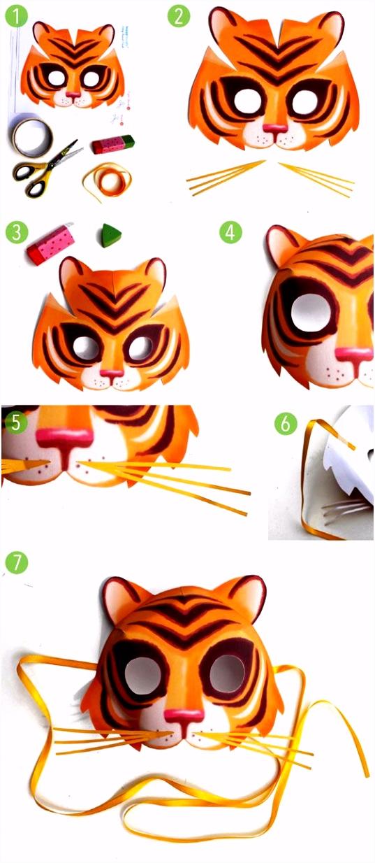 Tiermasken basteln 14 verspielte Ideen Druckvorlagen bastelideen