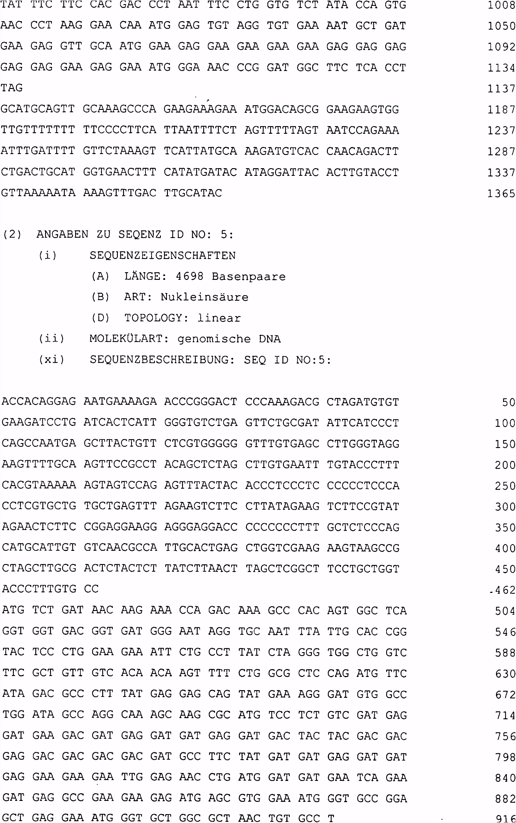DE T2 Precursors for tumorabstossung responsible antigenic