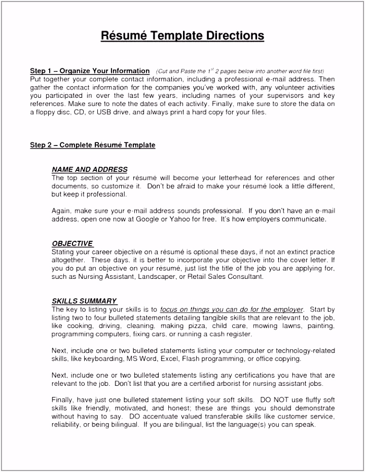 25 Sample Resume References Example