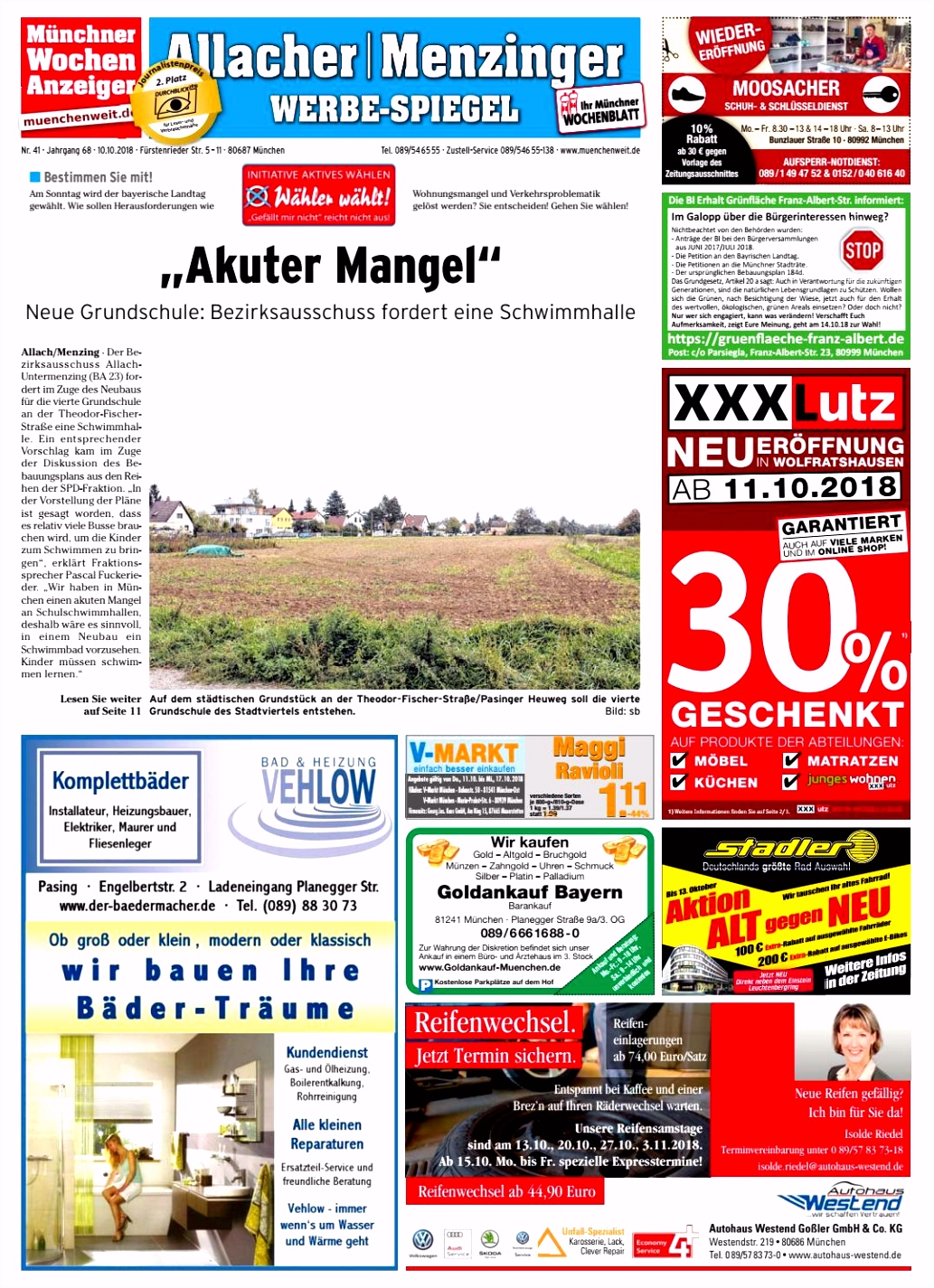KW 41 2018 by Wochenanzeiger Me n GmbH issuu