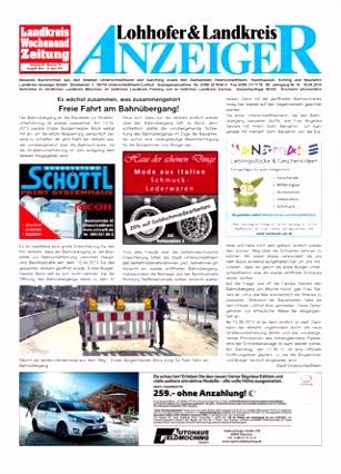 Lohhofer & Landkreis Anzeiger 1615 by Zimmermann GmbH Druck & Verlag