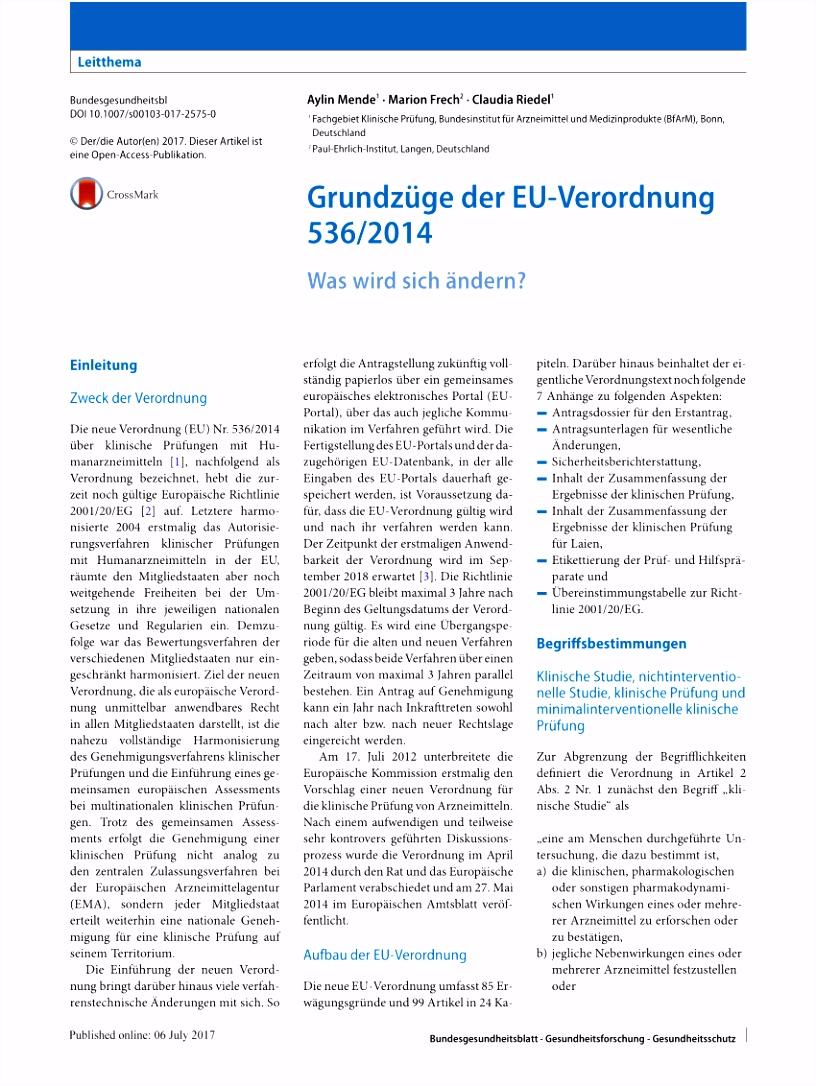PDF Grundzüge der EU Verordnung 536 2014 Was wird sich ändern