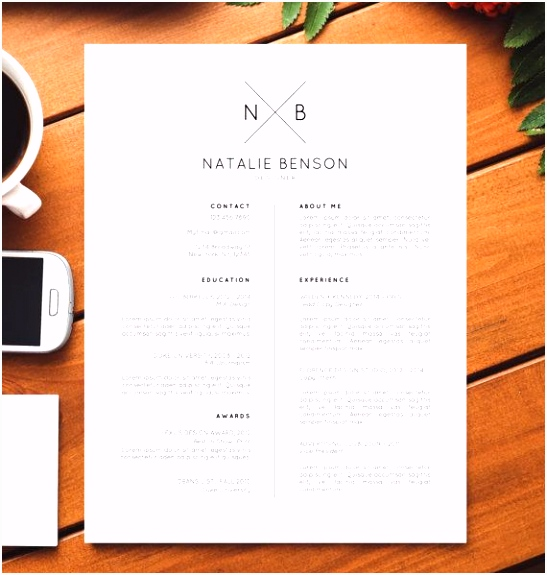 Modern Resume Template Cover Letter Template for Word Professional