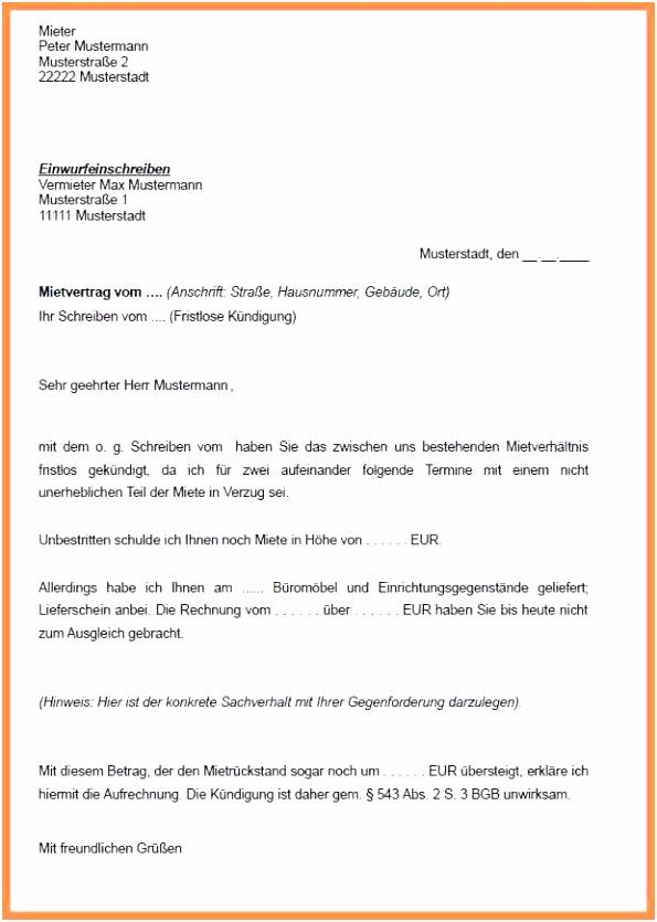 10 kündigung mietvertrag vorlagen