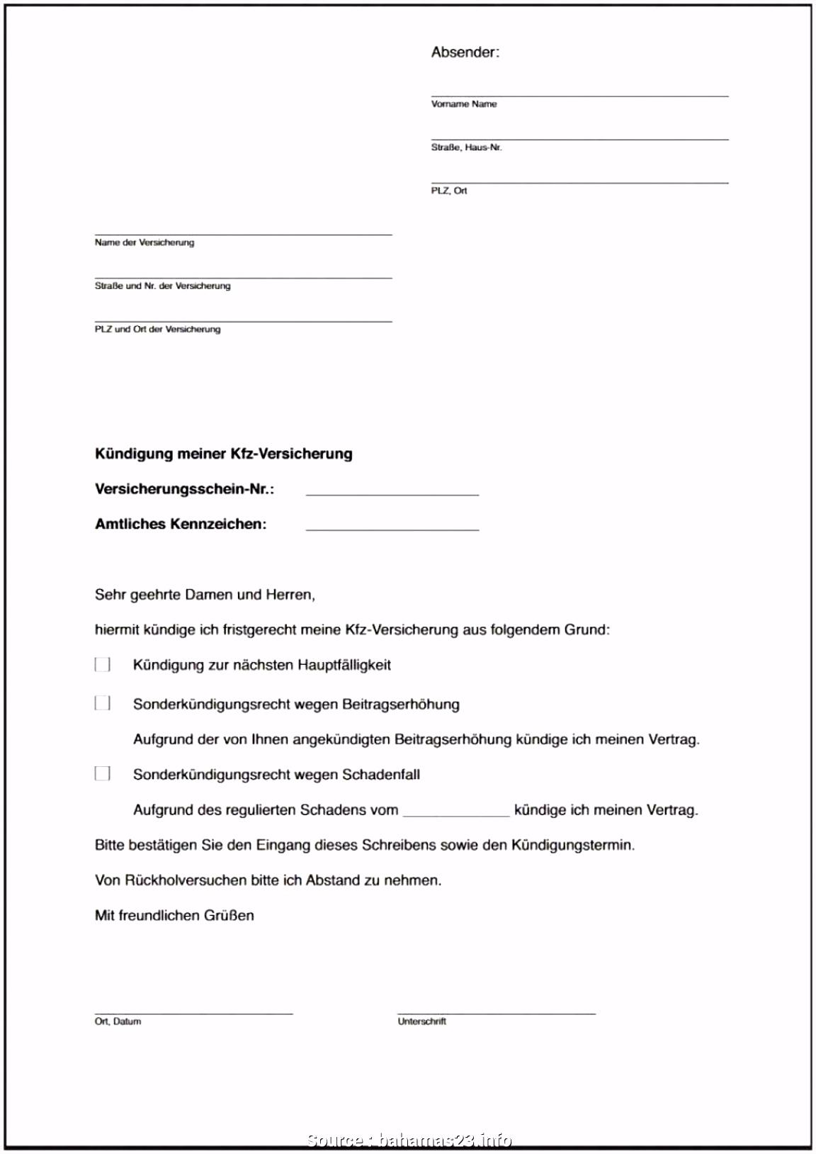 10 versicherung kündigungsschreiben vorlage