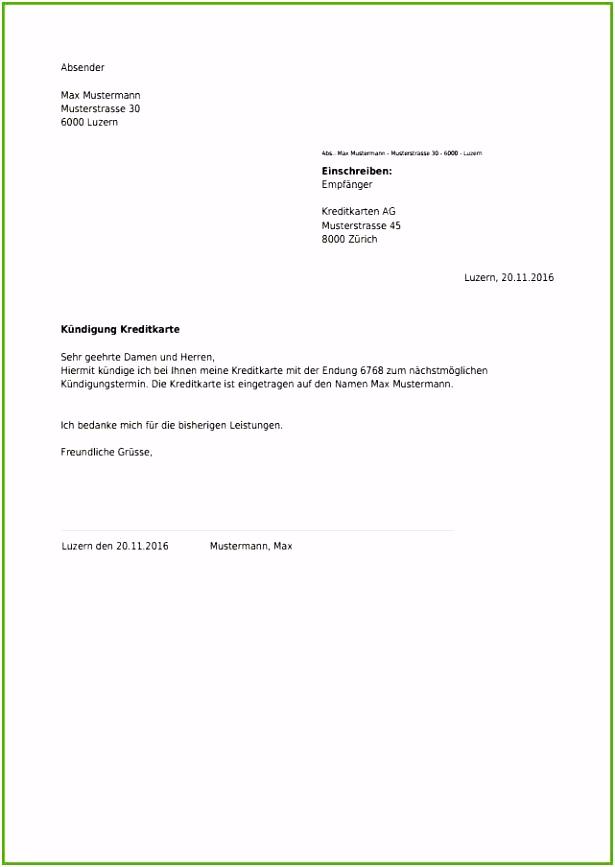 überraschen Kreditkarte Kündigen Volksbank Vorlage 2019