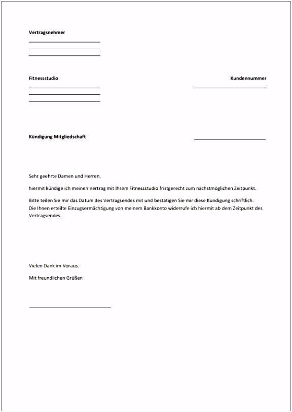 10 kündigungsschreiben vorlage abo