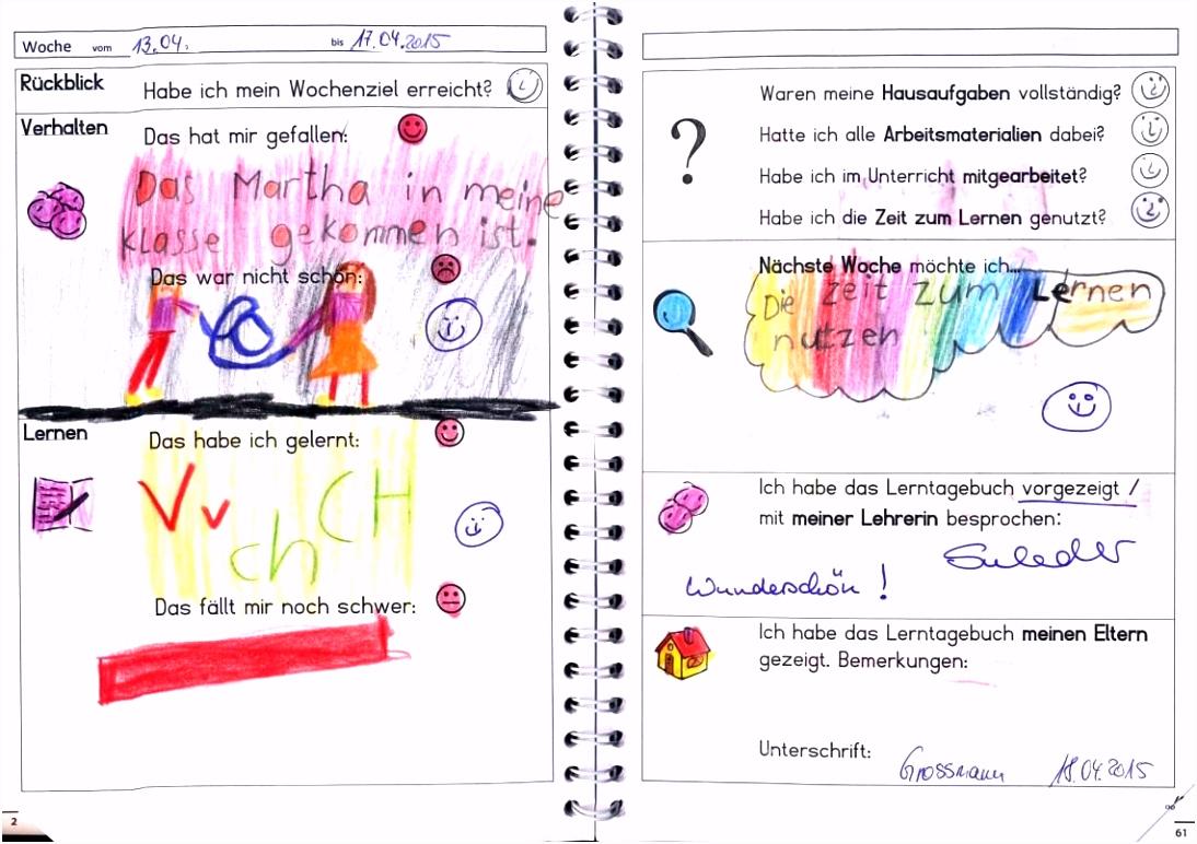 Bildergebnis für lerntagebuch grundschule Deutsch