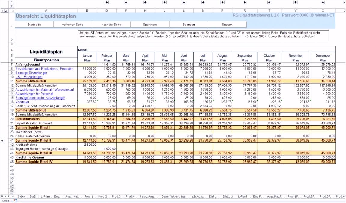Liquiditätsplanung Beispiel und Marktüberblick