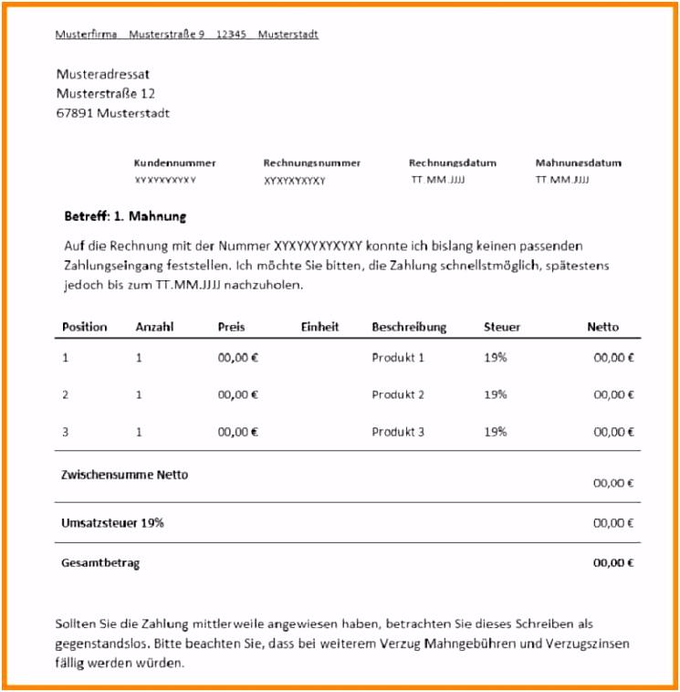 Mahnung Vorlage Privat Einzigartig 7 Mahnung Muster Sv Pluederhausen