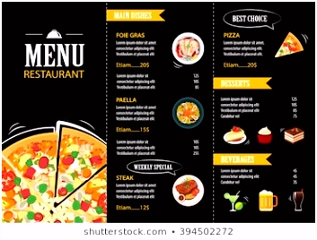 Menu Card Stock s & Vectors