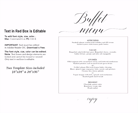 Wedding Buffet Menu Ideas Fresh Dinner For Reception Image