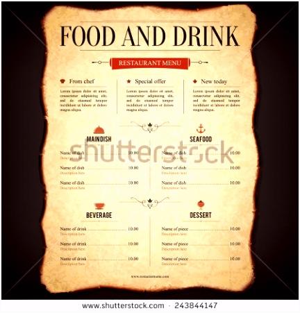 Vector Illustrations and Cliparts Restaurant menu design