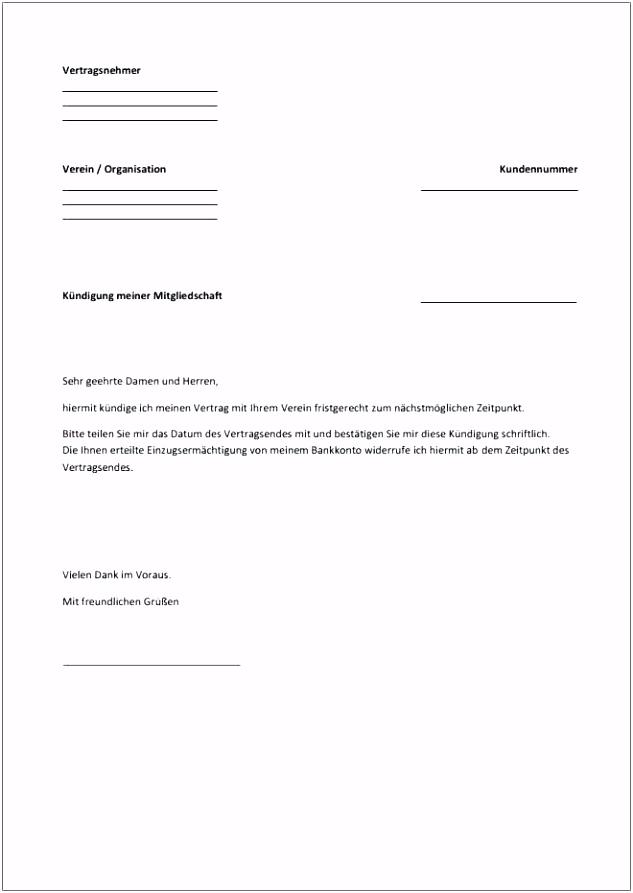 16 kostenlose vorlage kündigung mietvertrag