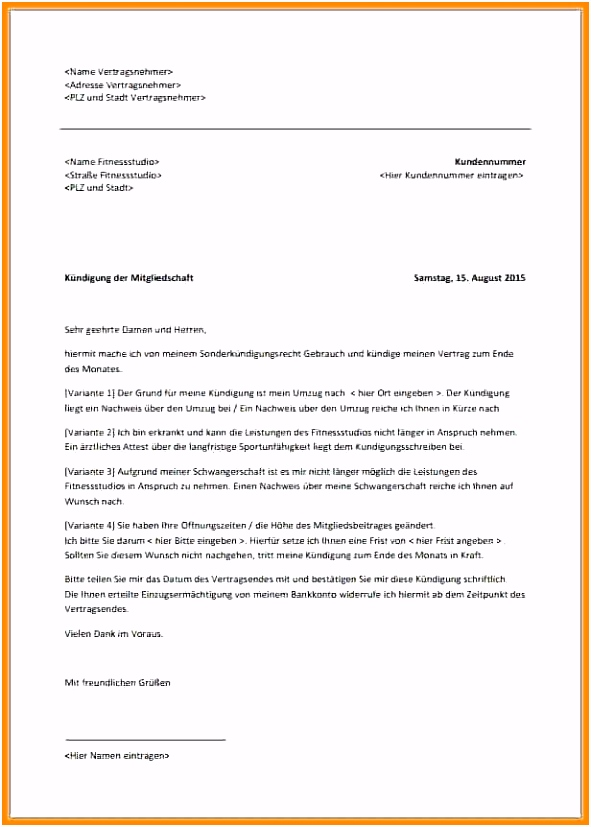 10 vorlage kündigungsschreiben mietvertrag