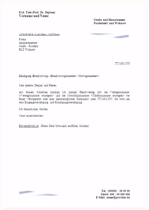 Mobilcom Debitel Kündigung Vorlage