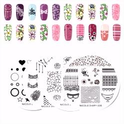 Rabatt Schablonen Für Nägel Designs