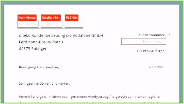 Unglaublich Kündigung Handyvertrag Vodafone Vorlage Sie Müssen Es