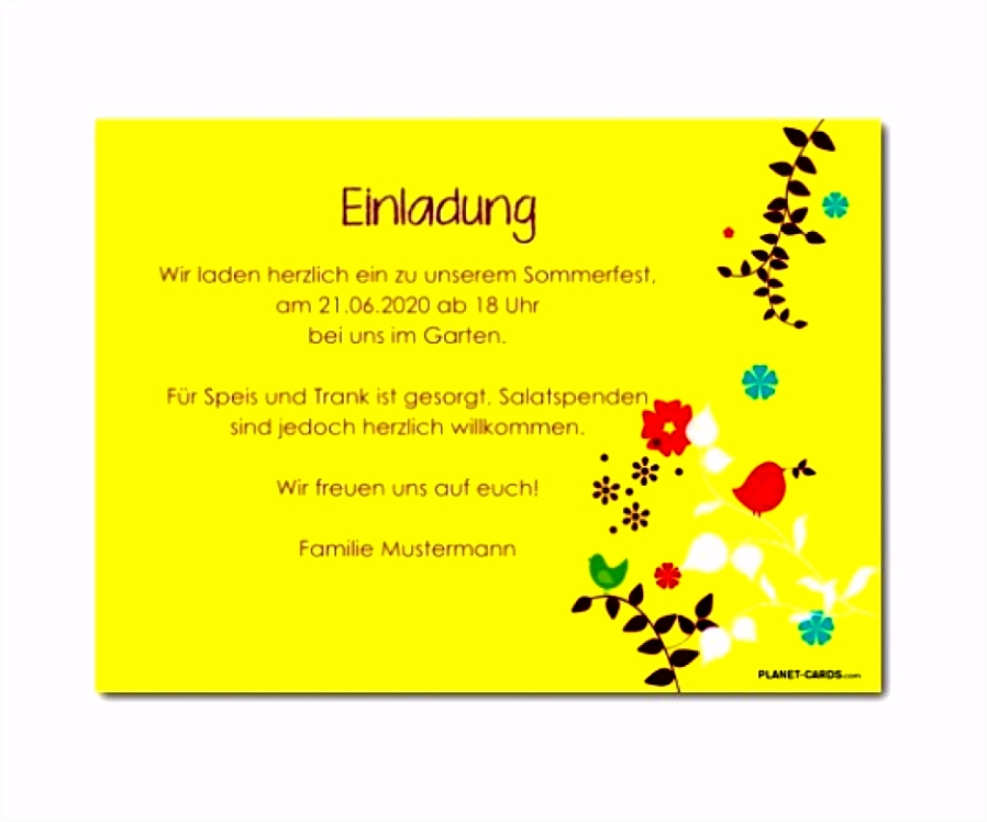 13 Party Einladung Text