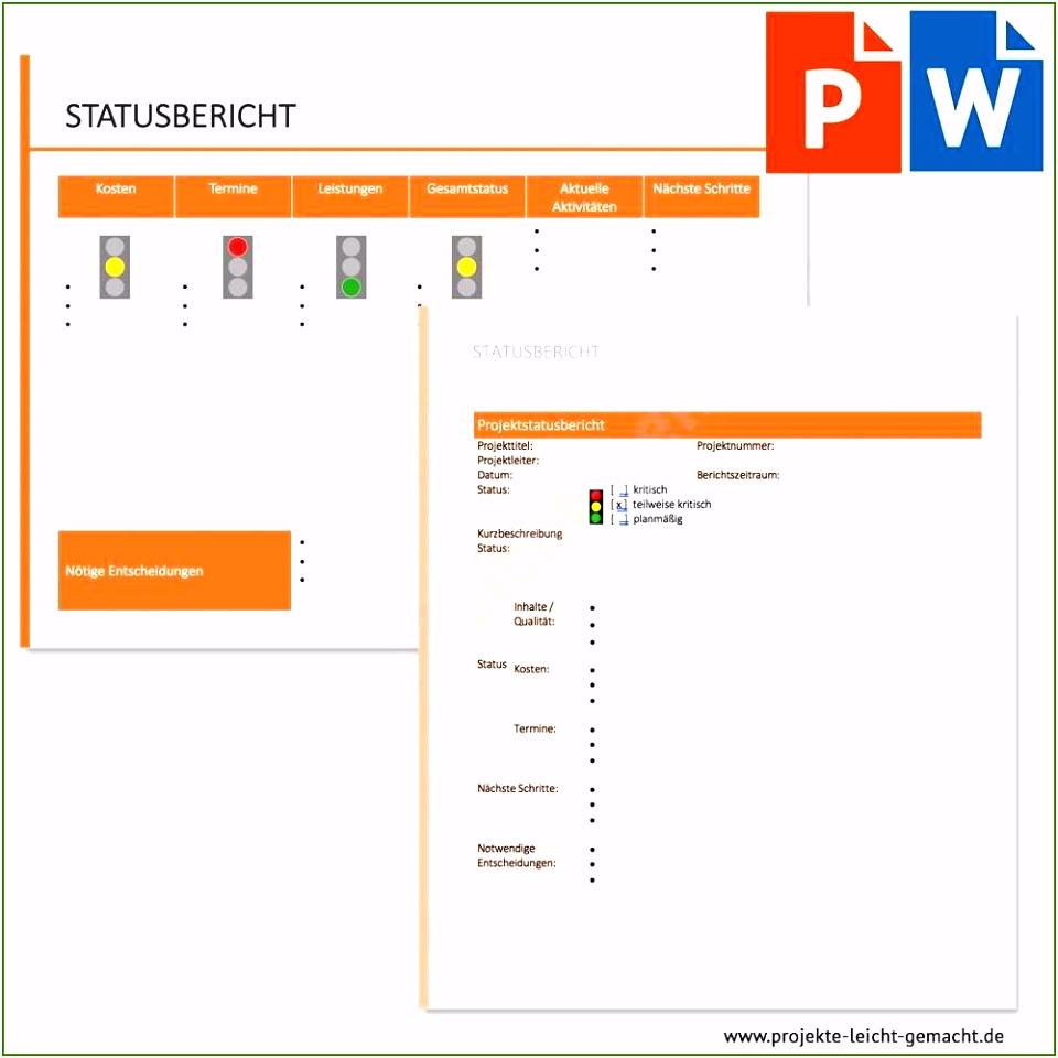 Projektmanagement Vorlagen toll Vorlage Statusbericht Vorlagen Ideen