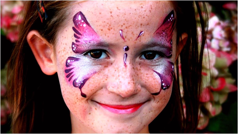 Schmetterling schminken Rosa Schmetterling Kinderschminken Vorlage