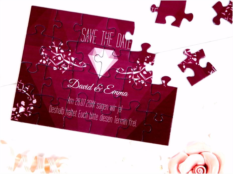 Save the Date Karten zur Hochzeit als Puzzle fotopuzzle