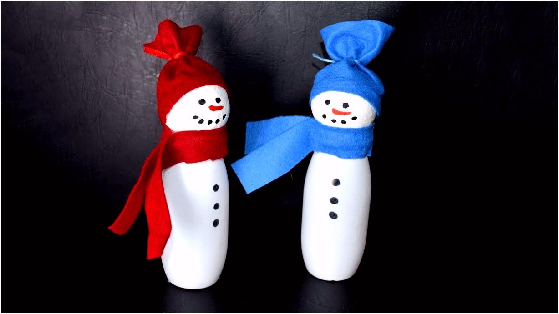 Weihnachtsbasteln Schneemann