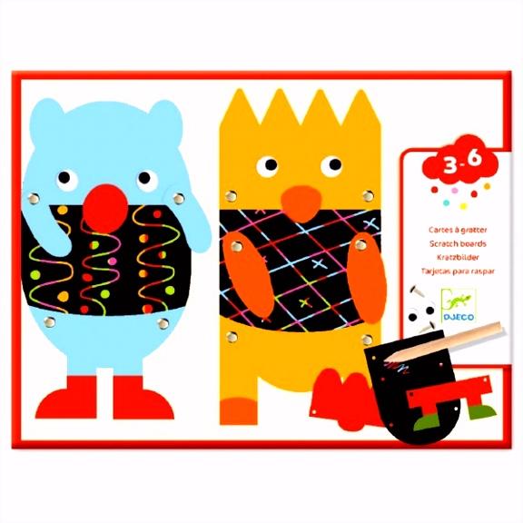 Kratzbilder 3 6 Kleine Monster von DJECO