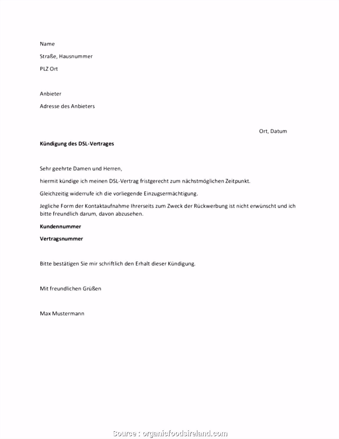 Neueste Vorlage Kündigung Wohngebäudeversicherung Kündigung