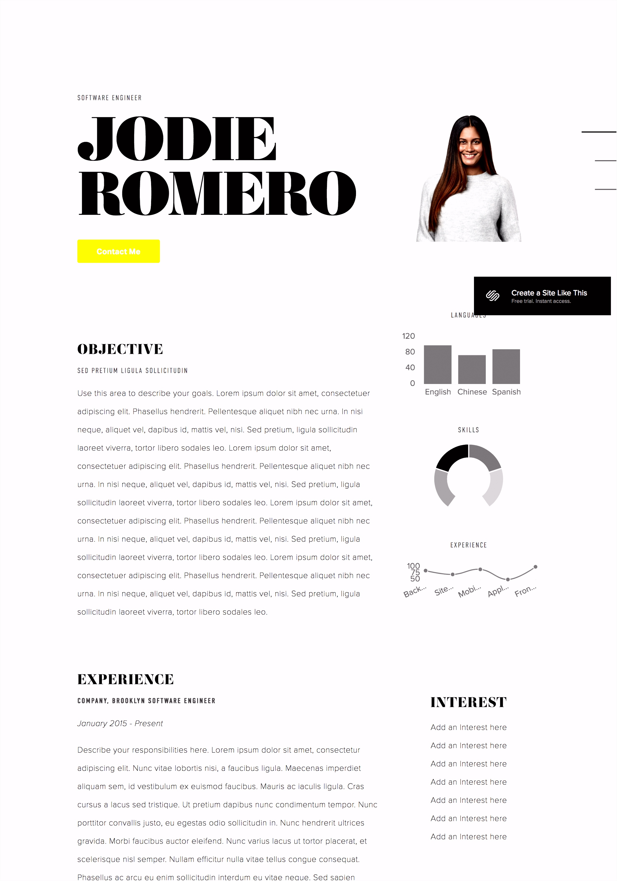 Displaying your resume on your site – Squarespace Help