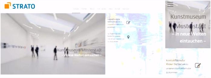 Update beim Homepage Baukasten neue Designs neues Wid und