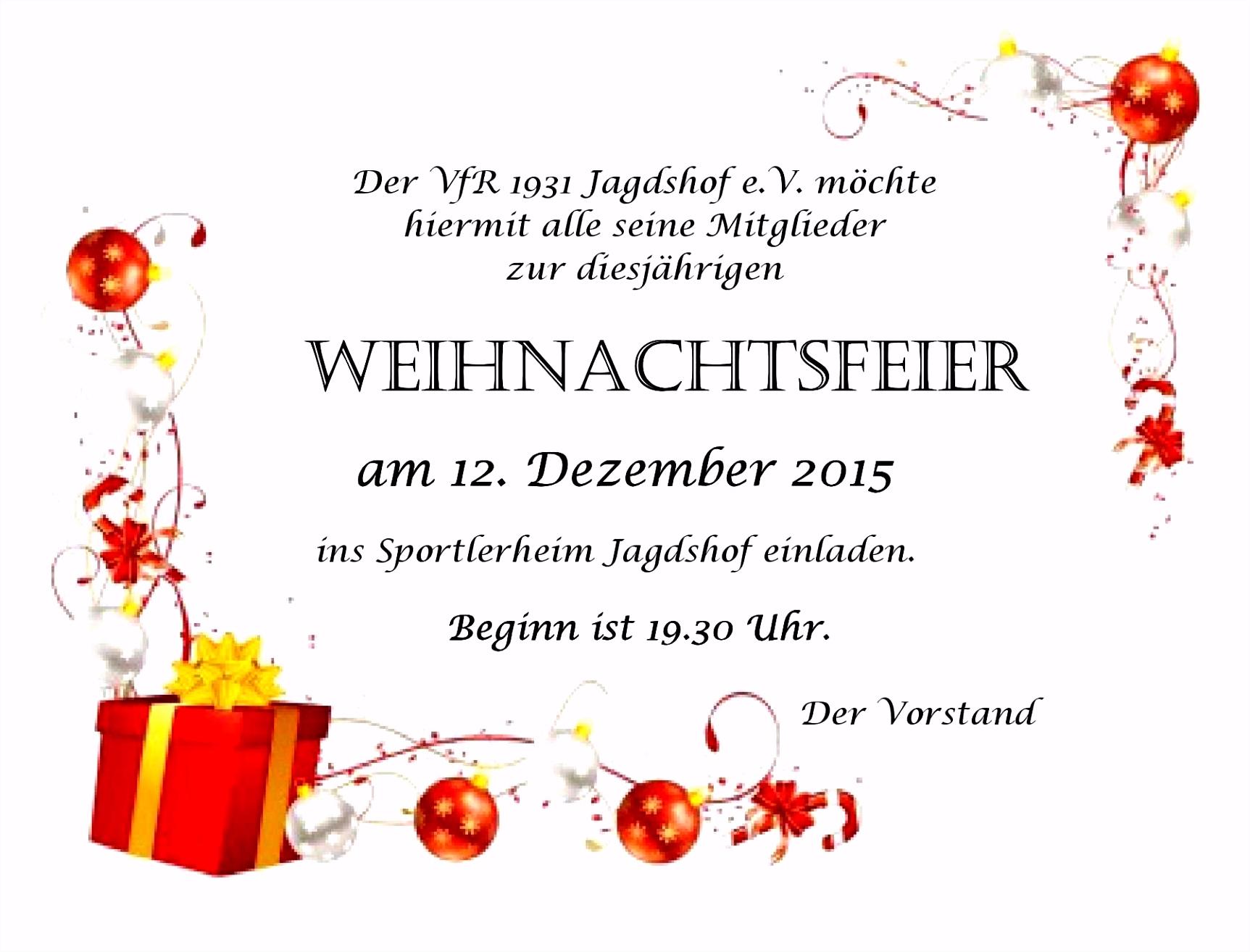 Einladung Weihnachtsfeier Vorlage Wohnideen