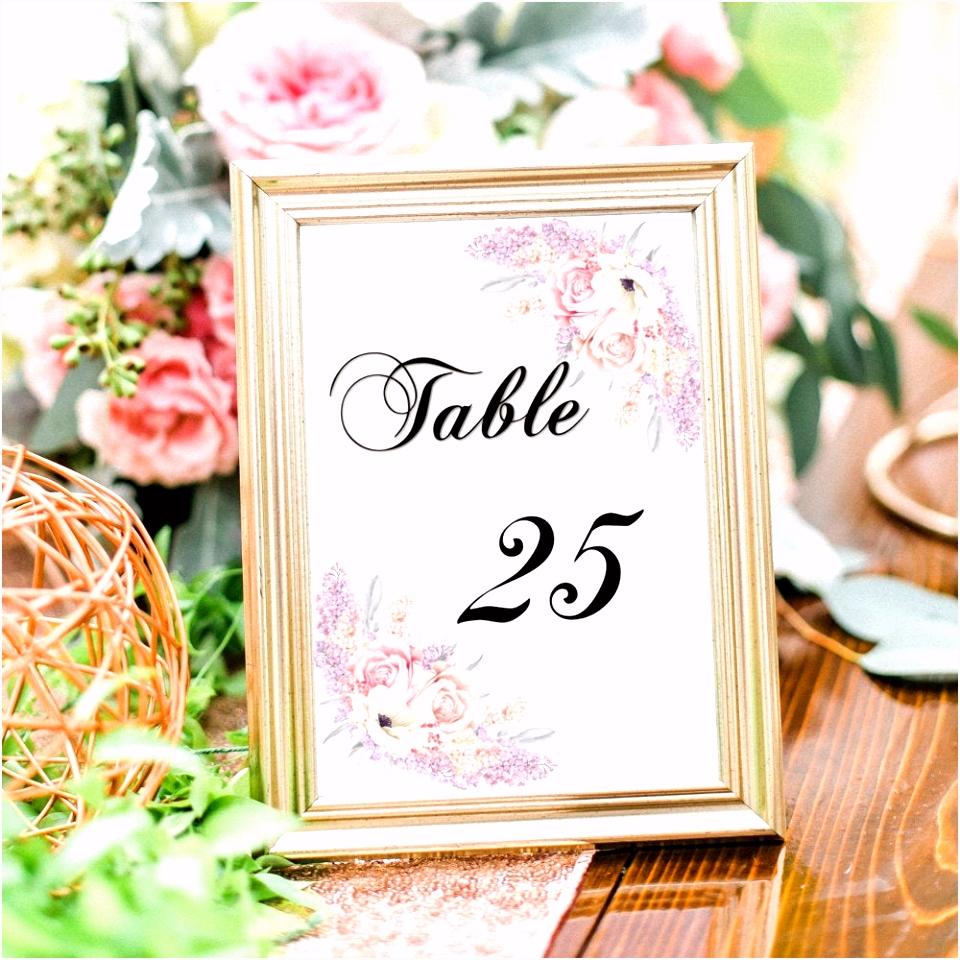 Druckbare Tischnummern Hochzeit Tischnummer Hochzeitsdeko