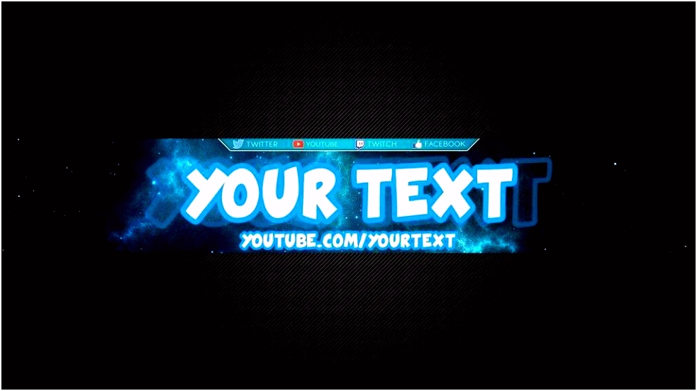Nice Yt Banner Template Youtube Banner Template