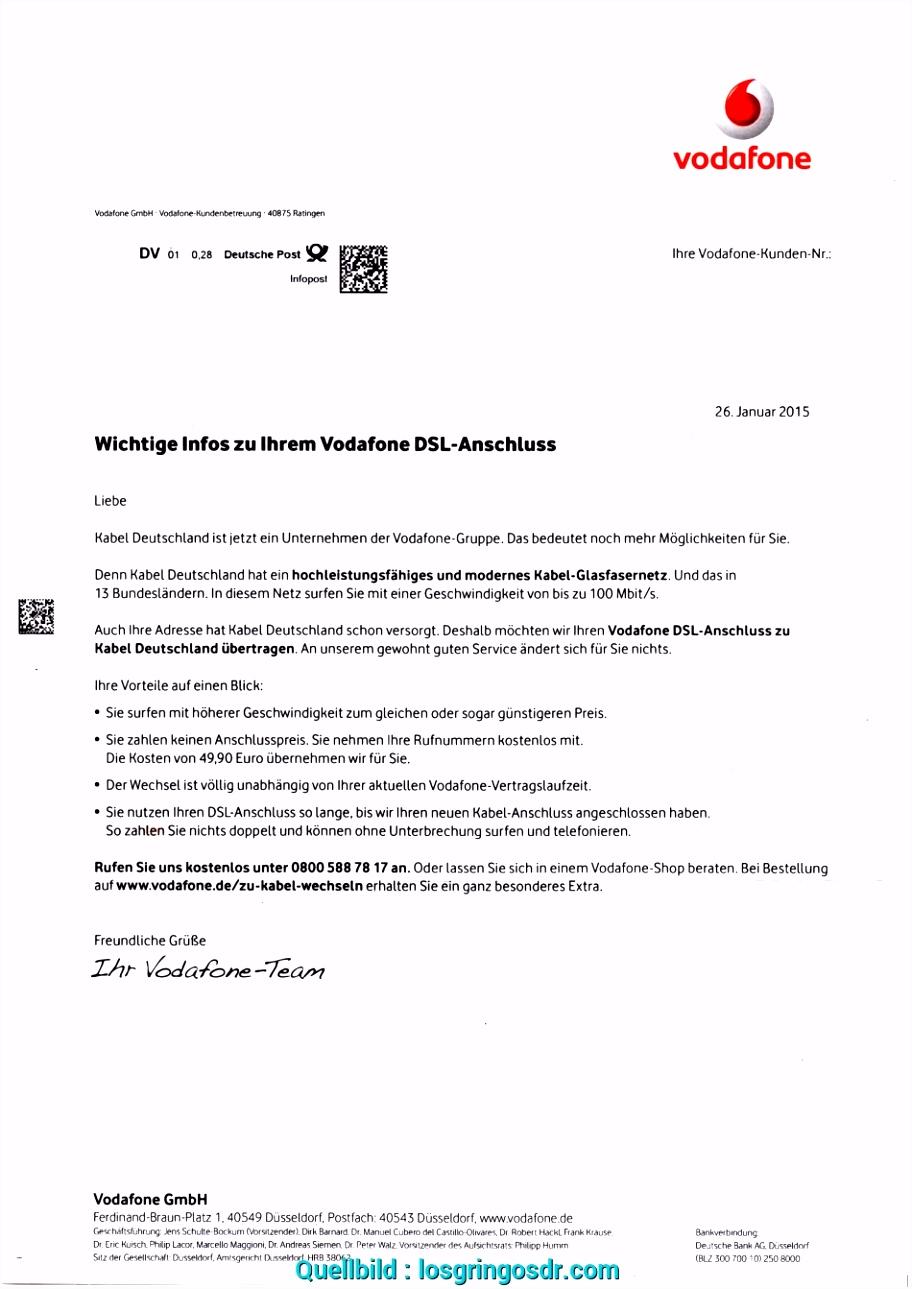 Ausgezeichnet 13 Vodafone Deutschland Kündigung Losgringosdr