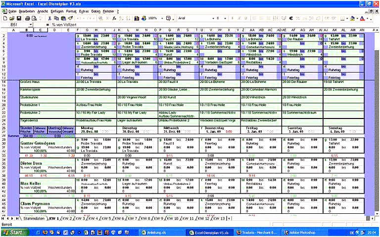 Excel Dienstplan V3 Download