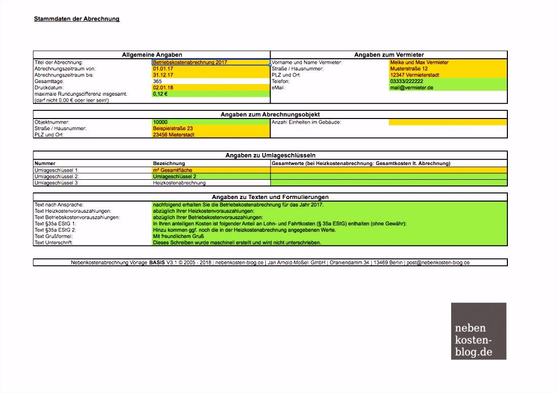Vorlage Betriebskostenabrechnung Excel Handbuch Excel Vorlage Nebenkosten Basis Nebenkosten Blogde In Bezug M3zv14vfx0 V6ohv6znw4