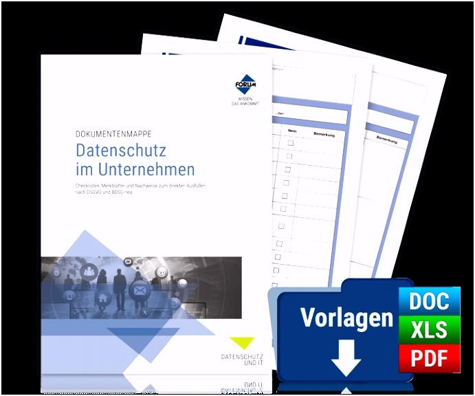Dokumentenmappe Datenschutz im Unternehmen