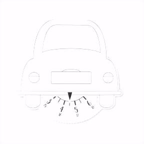 Winkler Schulbedarf Parkuhr Auto per Stk