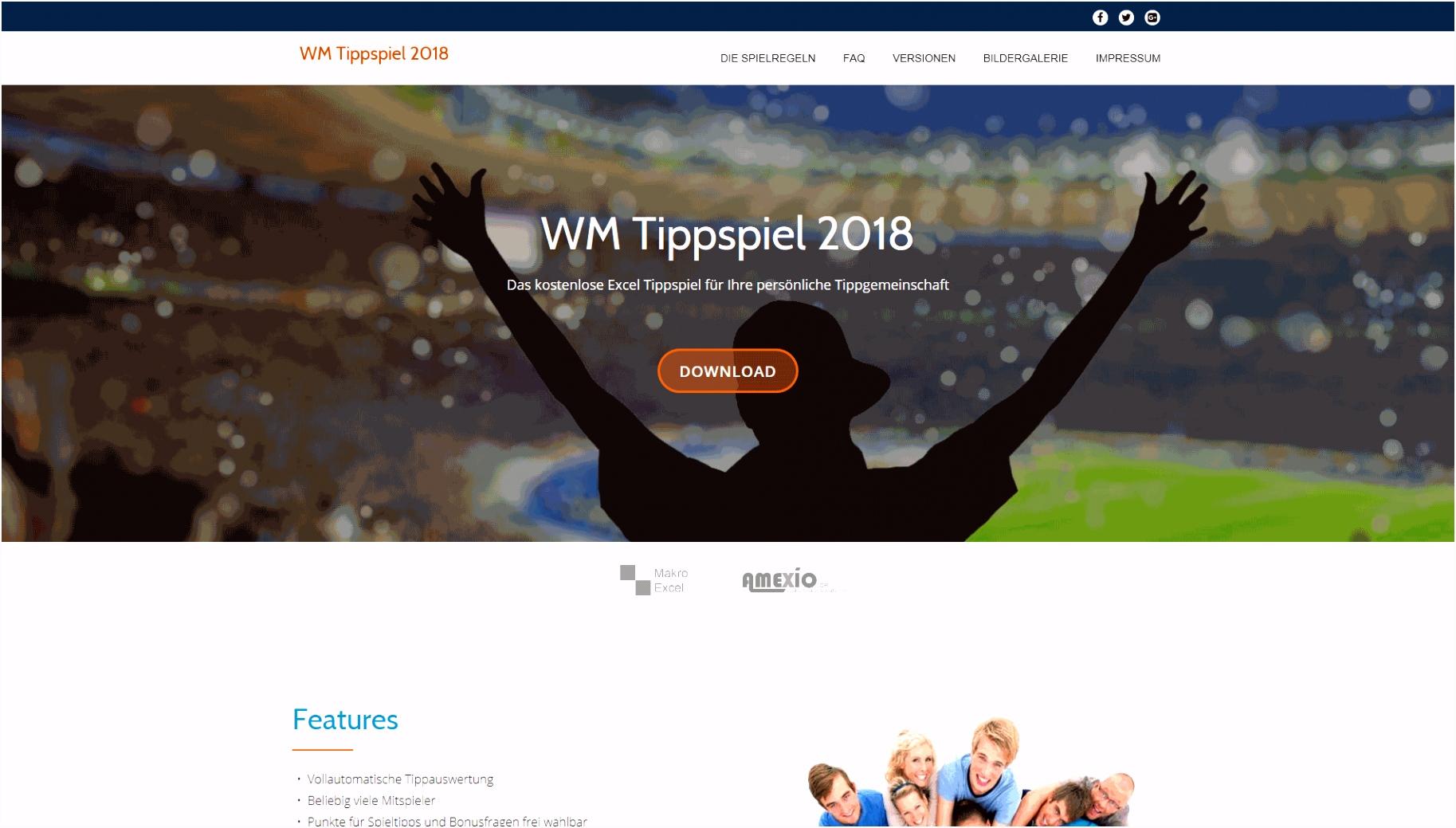 Excel Fußball Tippspiel 2018